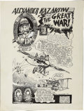 "Original Comic Art:Splash Pages, Doug Hansen - ""Alexander Kazakow"" Splash Page Original Art(1977)...."