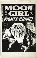 Original Comic Art:Covers, Sheldon Moldoff - Moon Girl Fights Crime #8 Cover Original Art (EC,1948)....