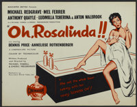 "Oh, Rosalinda!! (Associated British-Pathé Limited, 1955). British Quad (22"" X 28""). Musical"