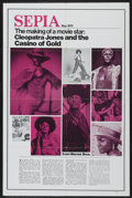 "Movie Posters:Blaxploitation, Cleopatra Jones and the Casino of Gold (Warner Brothers, 1975). OneSheet (27"" X 41"") Sepia Magazine Style. Blaxploitation...."
