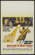 "Movie Posters:Western, Welcome to Hard Times (MGM, 1967). Window Card (14"" X 22""). Western...."