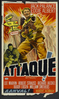 "Movie Posters:War, Attack! (Artistes Associes S.A.B., 1956). Belgian (14"" X 22"").War...."