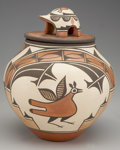 American Indian Art:Pottery, A ZIA POLYCHROME LIDDED JAR. Elizabeth Medina. c. 1985 ...