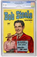 Golden Age (1938-1955):Western, Bob Steele Western #10 Mile High pedigree (Fawcett, 1952) CGC VF- 7.5 White pages....