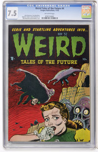Weird Tales of the Future #4 (Aragon, 1952) CGC VF- 7.5 Off-white pages