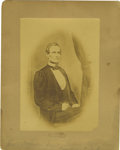 Photography:Studio Portraits, Confederate President Jefferson Davis Postwar Albumen Photograph,...