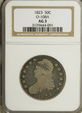 Bust Half Dollars, 1823 50C AG3 NGC. O-108A. NGC Census: (1/591). PCGS Population(0/563). Mintage: 1,694,200. Numismedia Wsl. Price for NGC/...