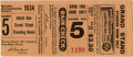 Baseball Collectibles:Tickets, 1934 World Series Game Five Ticket Stub. Despite a solid outingfrom star hurler Dizzy Dean, the St. Louis Cardinals failed...