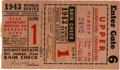 Baseball Collectibles:Tickets, 1943 World Series Game One Ticket Stub. Spud Chandler took themound for Game 1 of the 1943 World Series, propelling his Ya...