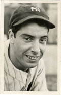 Baseball Collectibles:Photos, 1939 Joe DiMaggio News Service Photograph, Type 1. Original Type 1 service photograph dates from the days leading up to th...
