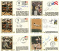 Autographs:Others, Baseball Stars Signed First Day Covers Lot of 6. A slick half dozensigned first day covers features the autographs of a nu...