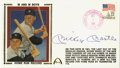 Autographs:Others, Mickey Mantle Signed First Day Cover. An attractive first day coverpostmarked 1986 features a depiction of Mantle and Mari...