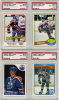 Hockey Cards:Lots, 1980-85 O-Pee-Chee Hockey Wayne Gretzky Cards, PSA-Graded Group Lotof 4. The greatest player to ever take NHL ice is seen ...