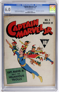 Captain Marvel Jr. #5 (Fawcett, 1943) CGC FN 6.0 Cream to off-white pages