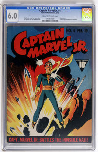Captain Marvel Jr. #4 (Fawcett, 1943) CGC FN 6.0 Cream to off-white pages