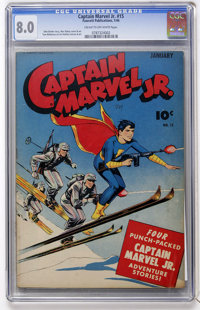 Captain Marvel Jr. #15 (Fawcett, 1944) CGC VF 8.0 Cream to off-white pages