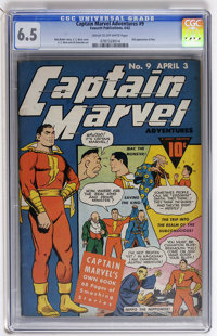 Captain Marvel Adventures #9 (Fawcett, 1942) CGC FN+ 6.5 Cream to off-white pages