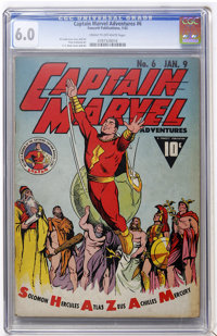 Captain Marvel Adventures #6 (Fawcett, 1942) CGC FN 6.0 Cream to off-white pages