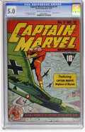 Golden Age (1938-1955):Superhero, Captain Marvel Adventures #5 (Fawcett, 1941) CGC VG/FN 5.0 Cream to off-white pages....