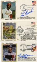 Autographs:Letters, Group of Signed First Day Covers Lot of 17. Group lot of singlesigned First Day Covers including Pete Rose (7), Reggie Jac...