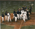 Autographs:Photos, 1999 New York Yankees Team Signed Photograph. The New York Yankeesended the twentieth century with a bang, fielding yet an...