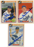 Autographs:Sports Cards, 1983 Donruss Hall of Fame Heroes Signed Cards Lot of 3. Stan Musial, Duke Snider, and Charlie Gehringer added clear and nea...