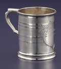 Silver Holloware, American:Coin Silver, AN AMERICAN COIN SILVER CUP. Tiffany & Co., New York, New York,circa 1850. Marks: TIFFANY & CO.. 3-1/2 inches high x4-...