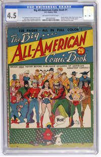 Big All-American Comic Book #1 (DC, 1944) CGC VG+ 4.5 Off-white to white pages