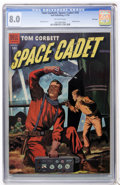 Golden Age (1938-1955):Science Fiction, Tom Corbett Space Cadet #10 File Copy (Dell, 1954) CGC VF 8.0Off-white pages....