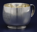 Silver Holloware, American:Cups, AN AMERICAN SILVER CUP. Tiffany & Co., New York, New York,circa 1870-1875. Marks: TIFFANY & CO., 2942 MAKERS 705,STERLIN...