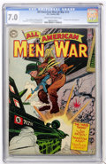 Golden Age (1938-1955):War, All-American Men of War #13 (DC, 1954) CGC FN/VF 7.0 Cream tooff-white pages....