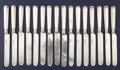Silver Flatware, American:Albert Coles, A GROUP OF SIXTEEN AMERICAN COIN SILVER LUNCHEON KNIVES. AlbertColes & Co., New York, New York and Mead & Adriance, St.Lou... (Total: 16 Items)