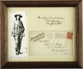 "Autographs:Celebrities, William F. ""Buffalo Bill"" Cody Autograph Quote Signed, ..."