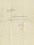 Autographs:Inventors, Typed Letter Signed by Albert Einstein. One page, 4to, written in German on Einstein's embossed Princeton, NJ letterhead, Ap...
