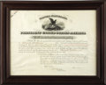 Autographs:U.S. Presidents, Grover Cleveland Signed Marine Appointment. ...