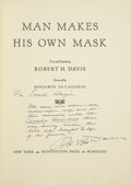 Books:First Editions, Robert H. Davis. Man Makes His Own Mask. New York:Huntington Press, 1932....