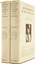 Books:First Editions, John J. Pershing. My Experiences in the World War. New York:Frederick A. Stokes Company, 1931.. ... (Total: 2 Items)