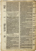 Books:Early Printing, [Bible]. Group of Early Printed Bible Leaves....