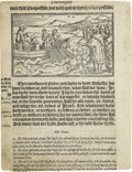 Books:Early Printing, [Bible]. Early Printed Bible Leaf....