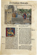 Books:Early Printing, Two Hand-Colored Leaves From the Luther Bible of 1545.. ... (Total:2 Items)