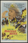 "Movie Posters:War, Battle Hell (DCA, 1957). One Sheet (27"" X 41""). War...."