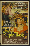 "Movie Posters:Adventure, The Purple Mask (Universal International, 1955). One Sheet (27"" X41""). Adventure...."