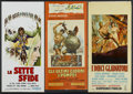 "Movie Posters:Adventure, The Barbarians Lot (NBC, 1960). Italian Locandinas (7) (13"" X 27"").Adventure.... (Total: 7 Items)"