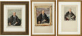 "Political:3D & Other Display (1896-present), Madame Elizabeth Shoumatoff: Three Watercolor Proof Studies for her Legendary ""Unfinished Portrait"" of FDR.... (Total: 4 Items)"