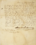Autographs:Statesmen, David G. Burnet Manuscript Document Signed ...