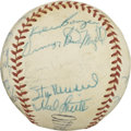 Autographs:Baseballs, 1960 St. Louis Cardinals Team Signed Baseball. Star-studdedbaseball that we present here has been adorned with the autogra...