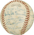 Autographs:Baseballs, 1945 National League Pacific All-Stars Team Signed Baseball. Manyof the nation's finest baseball players got the call to s...