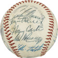 Autographs:Baseballs, 1977 Montreal Expos Team Signed Baseball. In spite of having afuture member of the Hall of Fame in Gary Carter behind the ...