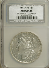 1882-O/S $1 --Improperly Cleaned--NCS. AU50 Details. NGC Census: (71/2056). PCGS Population (42/1314). Mintage: 1,039. N...
