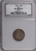 Early Dimes, 1802 10C --Bent--NCS. AG Details. JR-4. NGC Census: (4/30). PCGSPopulation (2/37). Mintage: 10,975. Numismedia Wsl. Price f...